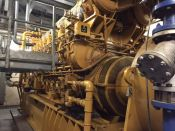 Item# P6153 - Caterpillar G3616 Natural Gas Continuous 3670KW, 50Hz, 3464/6035V Reciprocating Power Plant