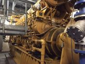 Item# P6155 - Caterpillar G3616 Natural Gas 3770KW, 50Hz, 6000V Reciprocating Power Plant